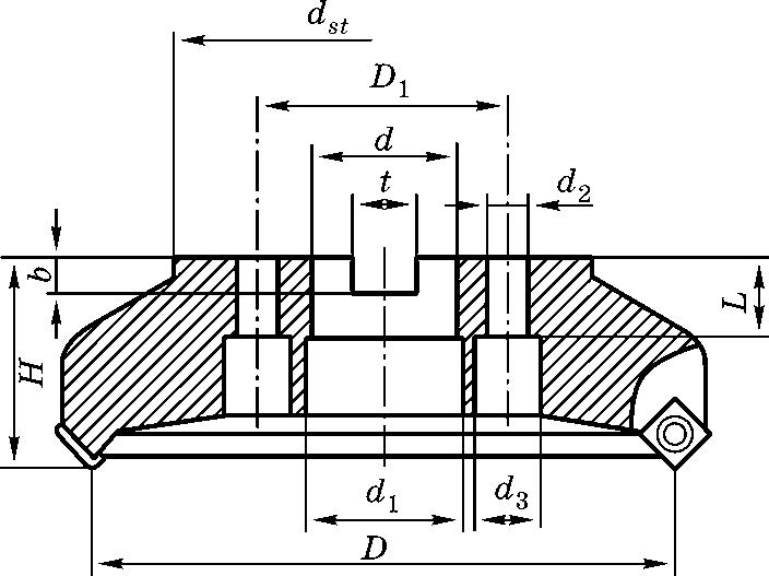 Присоединительные места торцовых фрез больших диаметров
