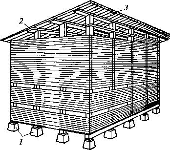 рядовой штабель для хвойных пиломатериалов