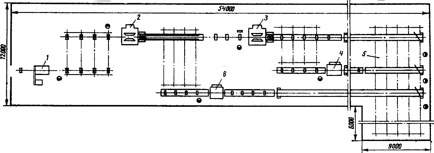 схема цеха с фрезернопильными станками