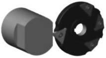 Схема формообразования двух лысок