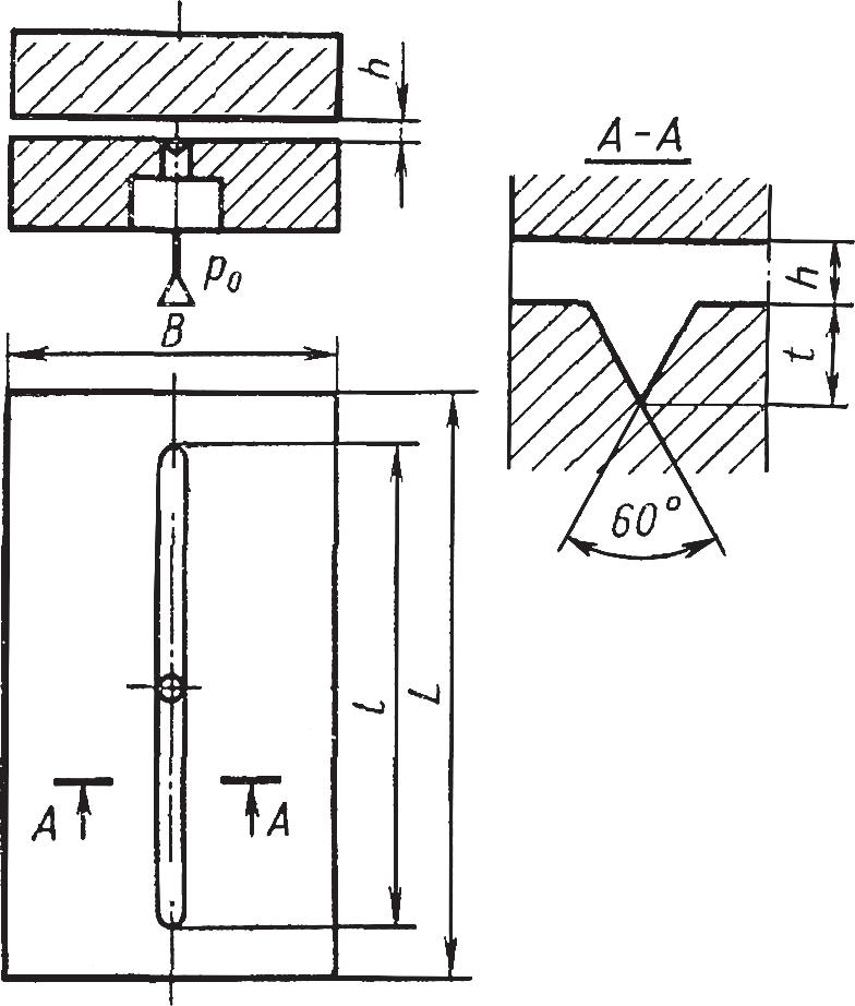 Схема конструкции плоской аэростатической направляющей