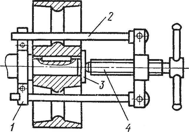 Схема посадки шкива с помощью стяжной скобы