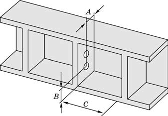 Схема расположения отверстий на внутренних стенках