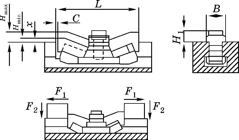схема сдвоенного зажима модели Mini-Bulle