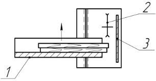 Схема торцевания заготовок на станке с кареткой