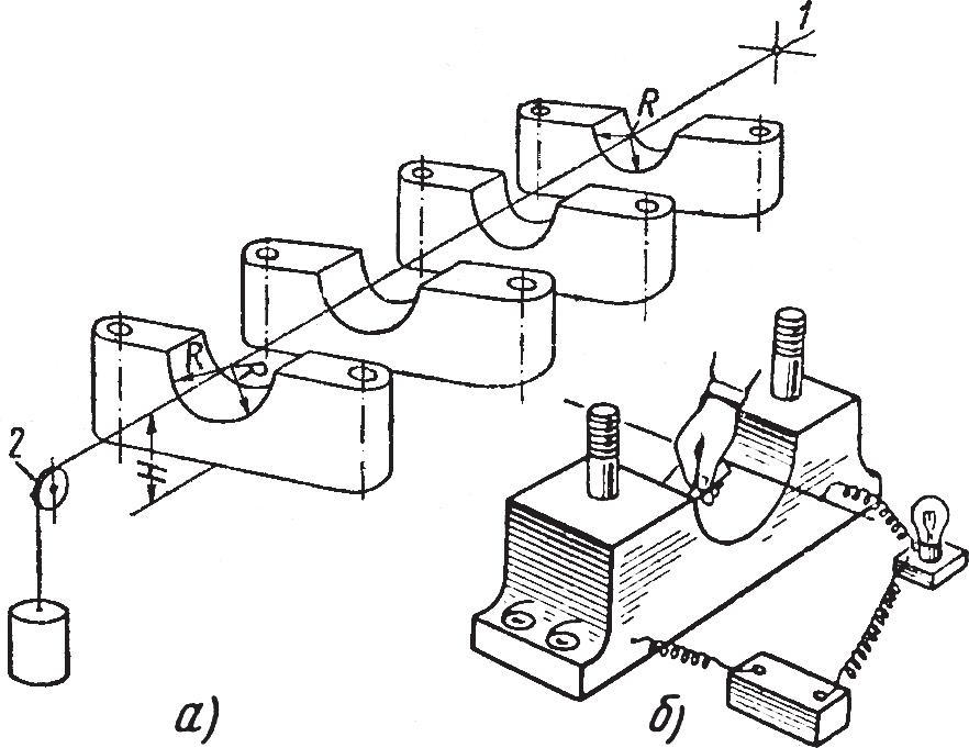 Схема установки подшипников по струне