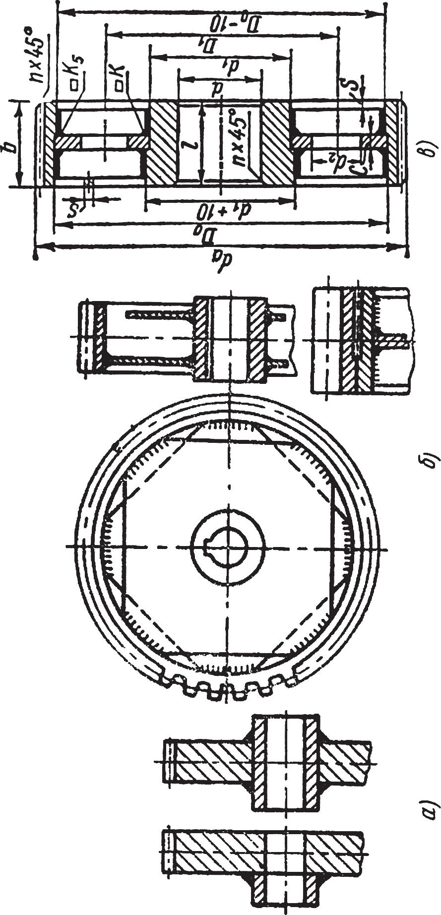 Сварные цилиндрические зубчатые колеса
