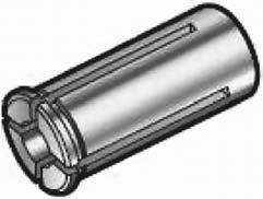 Типовая конструкция промежуточной цанги для цанговых патронов для фрез