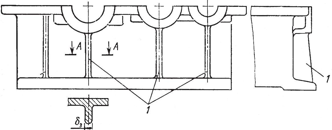 Упрочнение корпуса редуктора ребрами