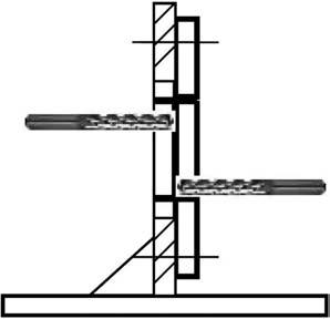Установка заготовки детали на угольнике для обеспечения двустороннего подхода для обработки карманов и контура