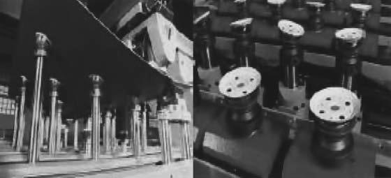Установка заготовки панели на столе, состоящем из программно-управляемых вакуумных стоек
