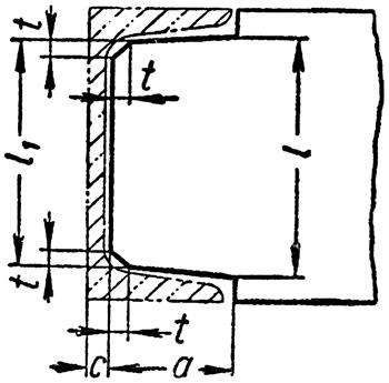 Соединение с двутавром и швеллером