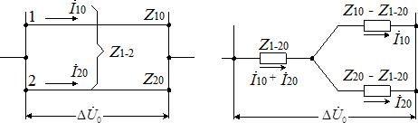 Двухцепная линия передачи и ее схема замещения нулевой последовательности
