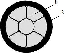Конструкция защищённого провода СИП-3