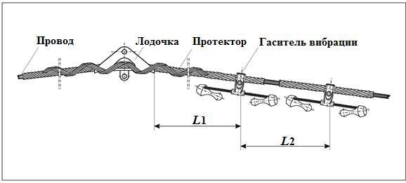 Последовательная установка гасителей вибрации