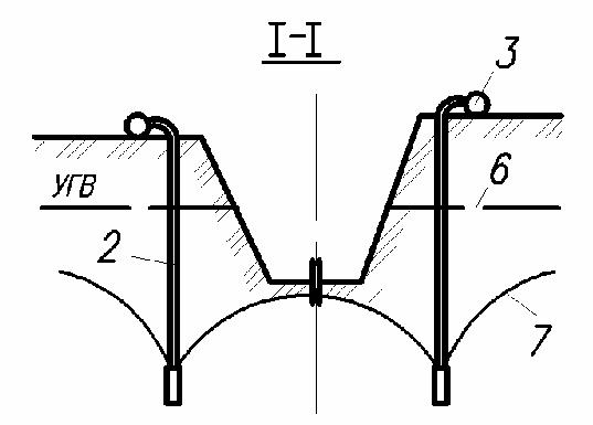 Схема водопонижения иглофильтрами
