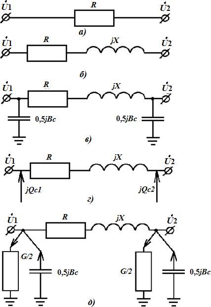Схемы замещения кабельных линий электропередачи