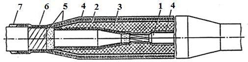 Соединительная муфта для кабелей с пластмассовой изоляцией на напряжение 10 кВ