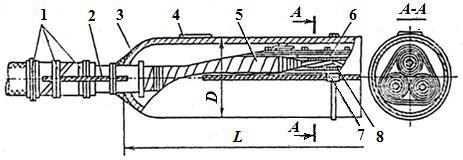 Соединительная муфта в свинцовом корпусе для кабелей на напряжение 6, 10 кВ
