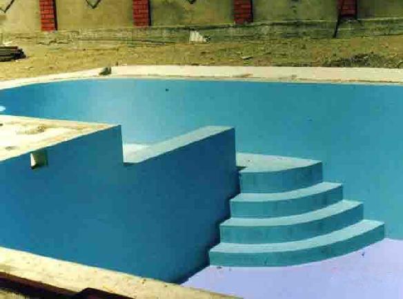 Устройство мастичной полимерной гидроизоляции для бассейнов