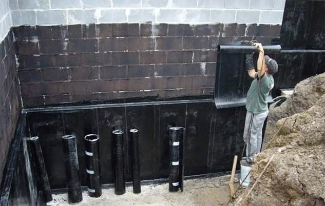 Устройство вертикальной гидроизоляции подвального помещения