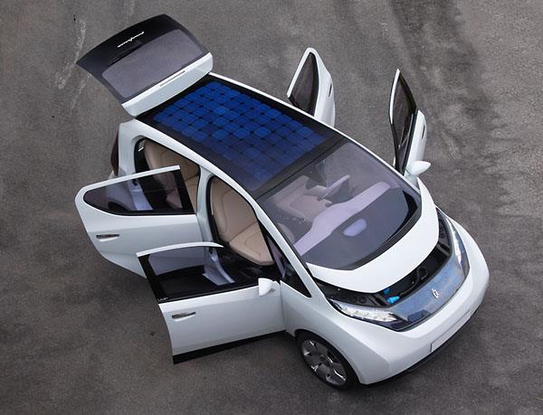 автомобиль с использованием Фотобатарей (фотоэлектрических модулей)