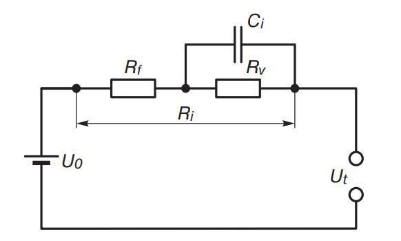 Эквивалентная схема аккамулятора