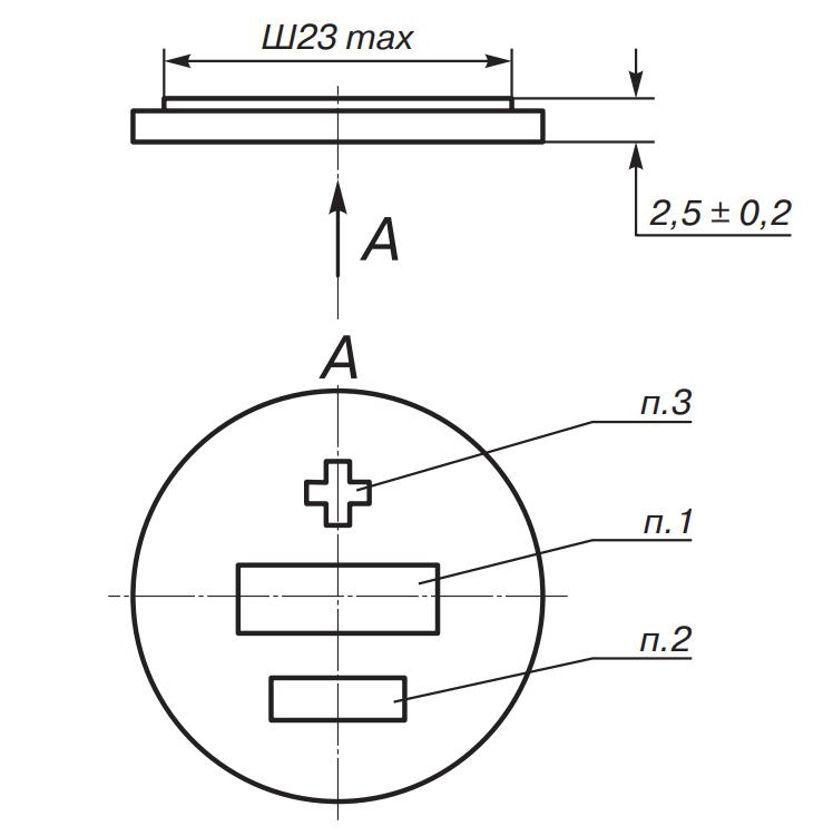 Габариты и маркировка литиевых элементов