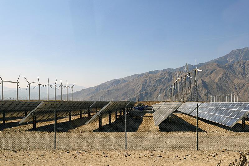 Гибридная ветросолнечная станция