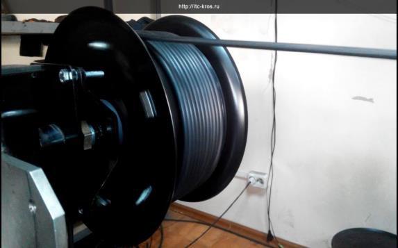 кабельный барабан с изолированным кабелем