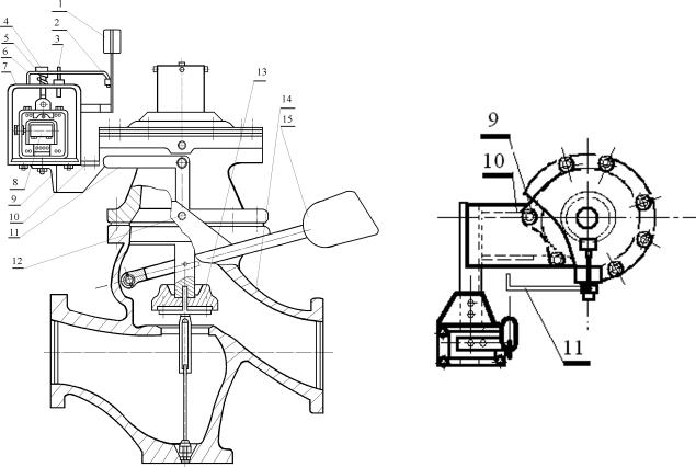 Клапан ПКН (ПКВ) с электромагнитной приставкой