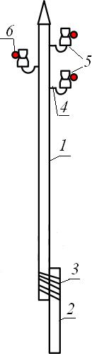одностоечная промежуточная опора ВЛЭП 6 кВ