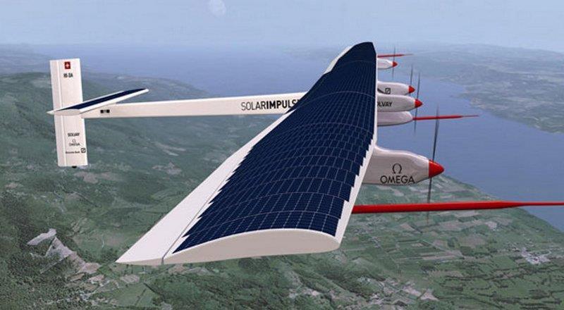 самолет с использованием Фотобатарей (фотоэлектрических модулей)