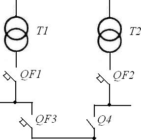схема двух-трансформаторной подстанции