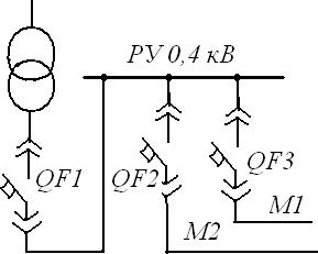 схема подключения магистралей к ТП через автоматические выключатели