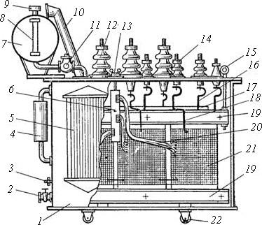 схема силового трансформатора