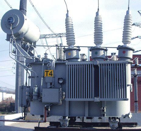Силовой трехфазный блочный трансформатор с масляным охлаждением
