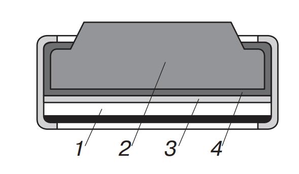 Строение дискового сухого элемента