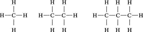 Структура молекул углеводородов