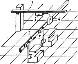 Участок сети, выполненной комплектными шинопроводами