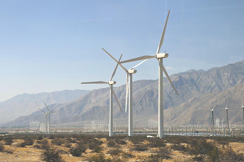 ВЭС в Калифорнии (США)
