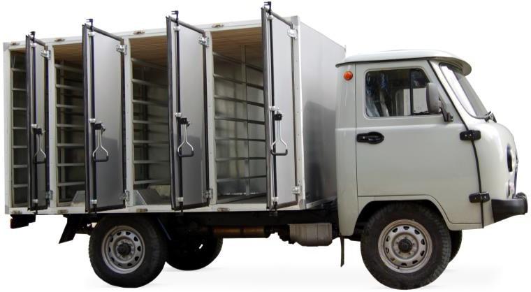 Автомобиль-фургон для перевозки хлебобулочных изделий