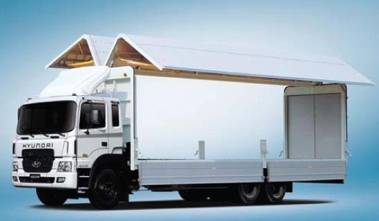 Автомобиль-фургон с шарнирно-подъемной крышей