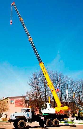 Автомобильный кран КС-45717К-1Р с овоидной стрелой
