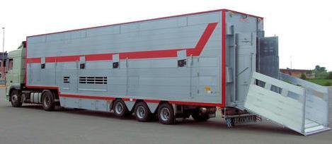 автопоезд-фургон для перевозки телят