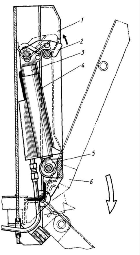 Гидравлическая система управления боковым бортом