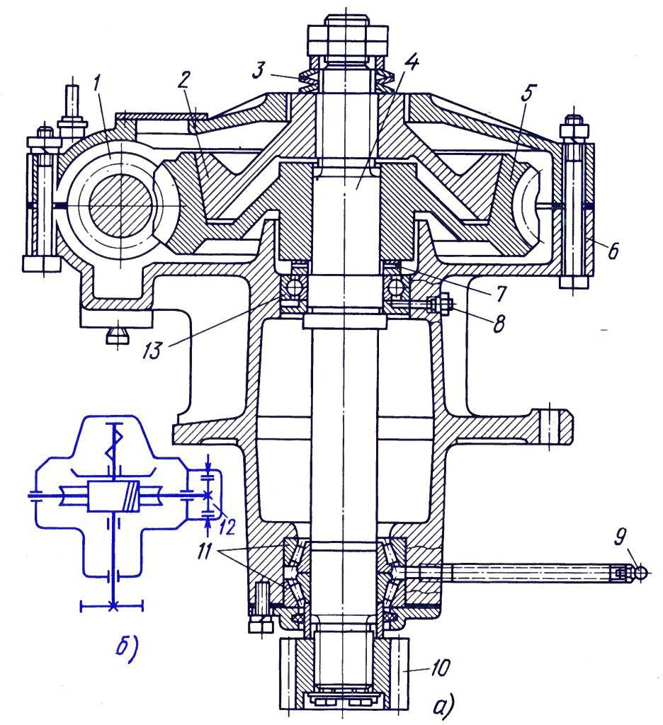Механизм поворота крана КС-2561Д
