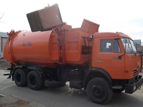 Мусоровоз кузовного типа с боковой загрузкой КО-440-5 на шасси автомобиля КамАЗ-65115