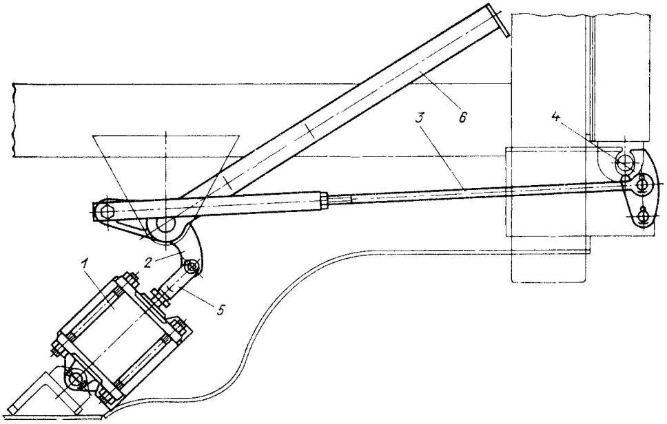 Пневматический привод управления запорами заднего борта