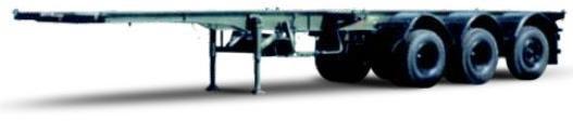 Полуприцеп МАЗ-938920 в стационарном положении